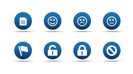 Web icons set | Aloha series Stock Vector - 2838706