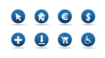 Web icons set | Aloha series Vector