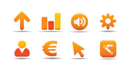 Web icons | Pumpkin series Stock Vector - 2838697