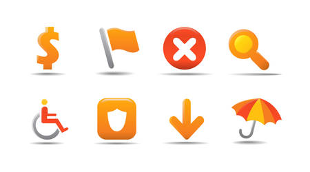 Web icon set 4 | Pumpkin series Stock Vector - 2848492