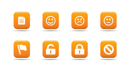 Web icon set 1 | Apricot series Stock Vector - 2848491