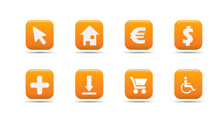 Web icon set 4 | Apricot series Stock Vector - 2848495