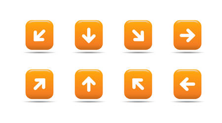 Web icon set 5   Apricot series Stock Vector - 2848494
