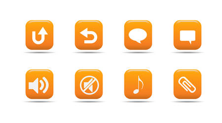 Web icon set 6| Apricot series Stock Vector - 2848493