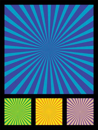 g�n�rer: Populaire appel� �l�ment de conception des rayons du soleil. 4 diff�rentes couleurs inclus (bleu, vert, jaune, violet).