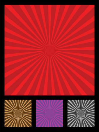 brow: Progettazione elemento popolare chiamato raggi del sole. 4 diversi colori incluso (rosso, fronte, viola, nero).