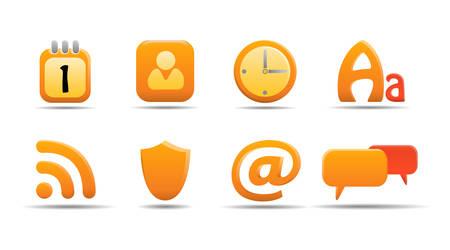 Web icon set 6 | Pumpkin series Stock Vector - 2874504