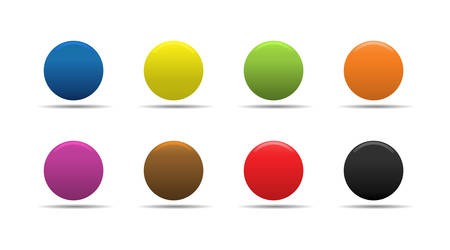 Colorful soft looking web buttons. Stock Vector - 2874508