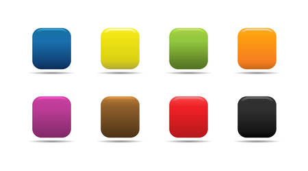 Colorful soft looking web buttons. Stock Vector - 2874505