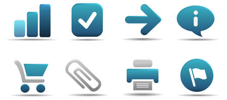 Web icon set 1 | Aqua series Stock Vector - 3014735