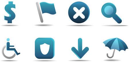 Web icon set 4 | Aqua series Stock Vector - 3014736