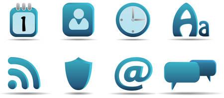 Web icon set 6 | Aqua series Stock Vector - 3014738