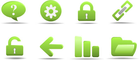 Web icon set 2 | Grass series Stock Vector - 3021086