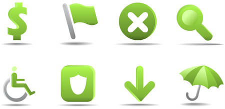 Web icon set 4 | Grass series Stock Vector - 3021089