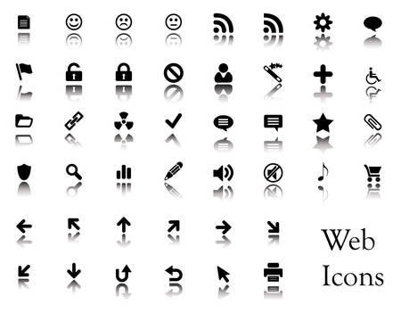 A big collection of web icons. You can find buttons from these icons in my portfolio. Stock Vector - 3032599