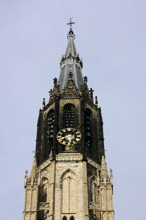 Picture of the bell tower (Delft church in Holland) Stock Photo - 3100153