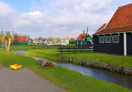 Picture of a old dutch village of Zaanse Scans photo