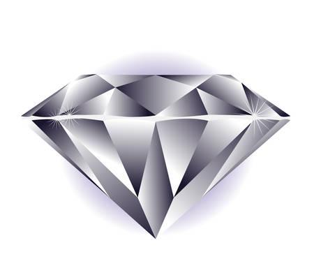 Diamond illustratie op een witte achtergrond. Stock Illustratie