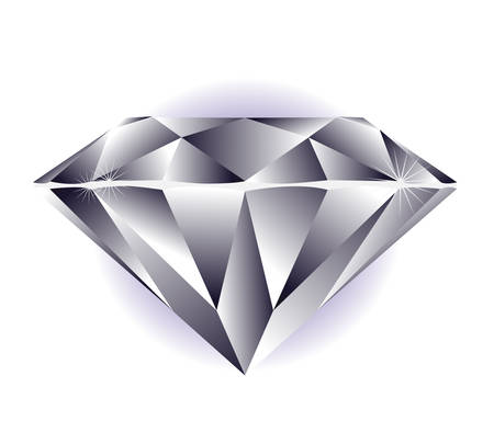 Diamond illustration on a white background. Illustration