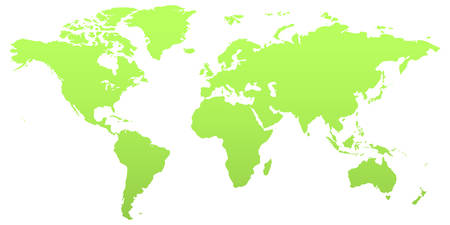 visible: Illustrations of the world with all the countries visible. In green color. Illustration