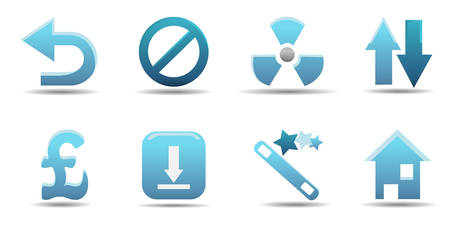 Web icon set 8 | Aqua series Vector