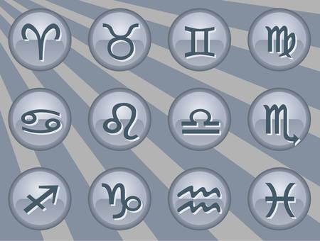 Chrome series | Part 5 zodiac Stock Vector - 3229745