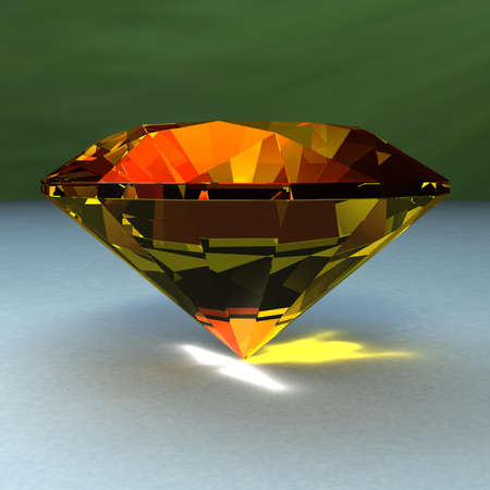 Realistically looking 3d render of a diamond.