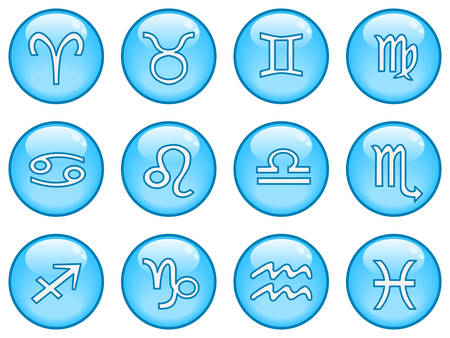 A collection of glossy blue sphere icons. Part 5 Vector
