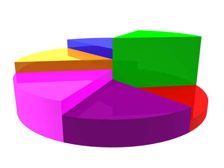 3d render of colorful pie chart. Stock Photo - 3552600
