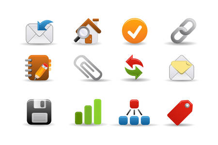 Smooth series: a collection of colorful web icons for your web page! Vector