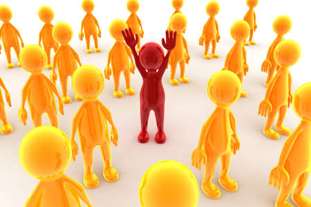 standing out from the crowd: Standing out from the crowd