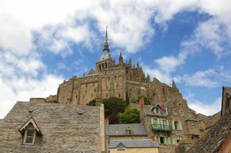 Beautiful Abbey of Mont Saint Michel Stock Photo - 5957372