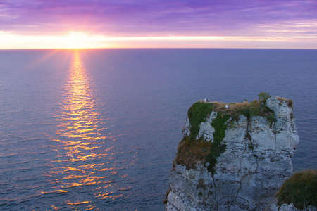 Sunset picture of famous cliffs of Etretat, Normandy, France Stock Photo - 6169140
