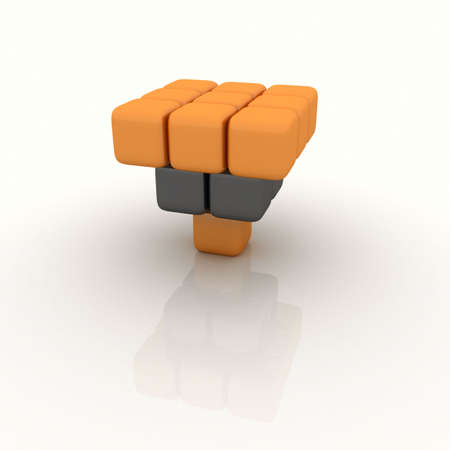 Cubes are incredibly balanced even though in a strange position! photo