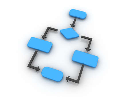 diagrama de flujo: Un diagrama de diagrama de flujo de vac�o que se suele utiliza en el programaci�n de equipo.