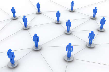linking: Concept image representing network, networking, connection, social networks, www,... Stock Photo