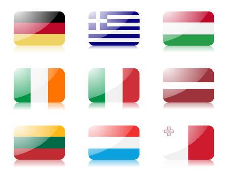 bandera de irlanda: banderas. Definir una de las banderas de la Uni�n Europea. 1 Vectores