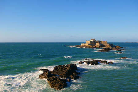 The National Fort at Saint Malo (during high tide).