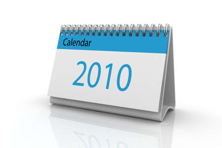 3d render of the 2010 calendar. Stock Photo - 6350728