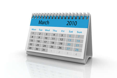3d render of the March 2010 calendar. Stock Photo - 6350732
