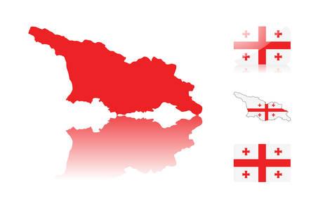 картинки карта грузии внутри флаг