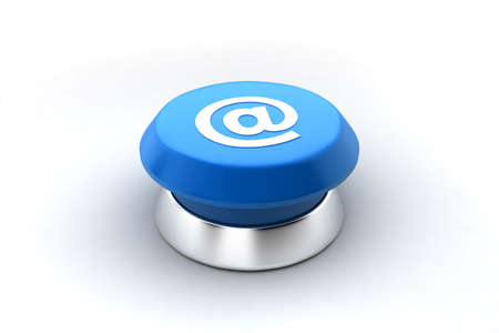 A 3d render of a blue at sign. Can be used as a concept image for email, web pages, contact,... Stock Photo - 6599474