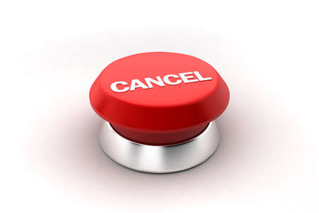 A 3d render of a red cancel button.