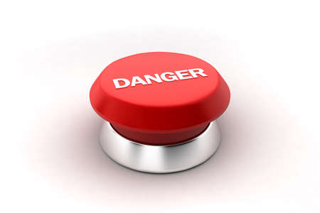 A 3d render of a red danger button. Stock Photo - 6622104