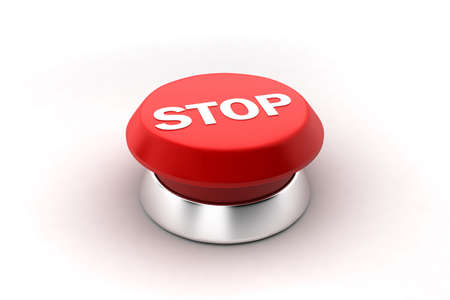 A 3d render of a red stop button. photo