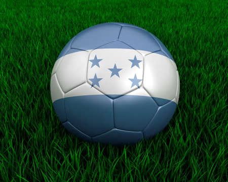 Honduras soccer ball in grass. Stock Photo - 7140079