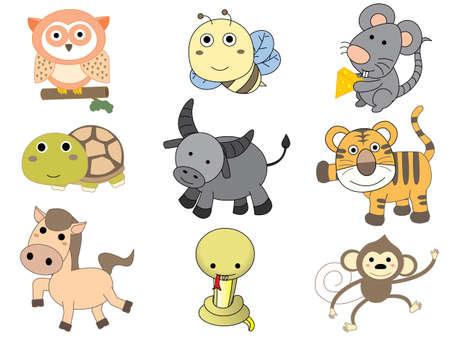 tigre caricatura: Vector de dibujos animados de animales