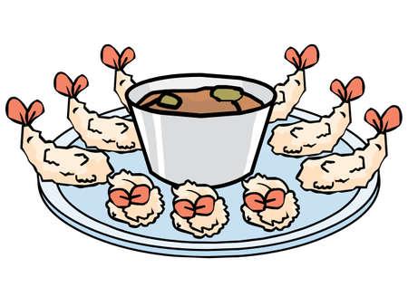 Fried Shrimp vector Illustration