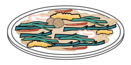 food cartoon on white Illustration