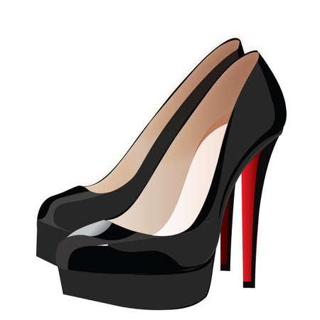 heels shoes woman  Illustration